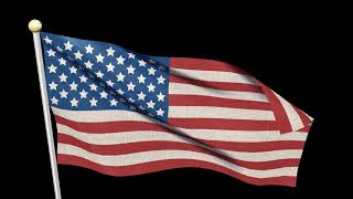 Free Video Footages - National Flag Of United States Of America Waving , USA Flag Animation