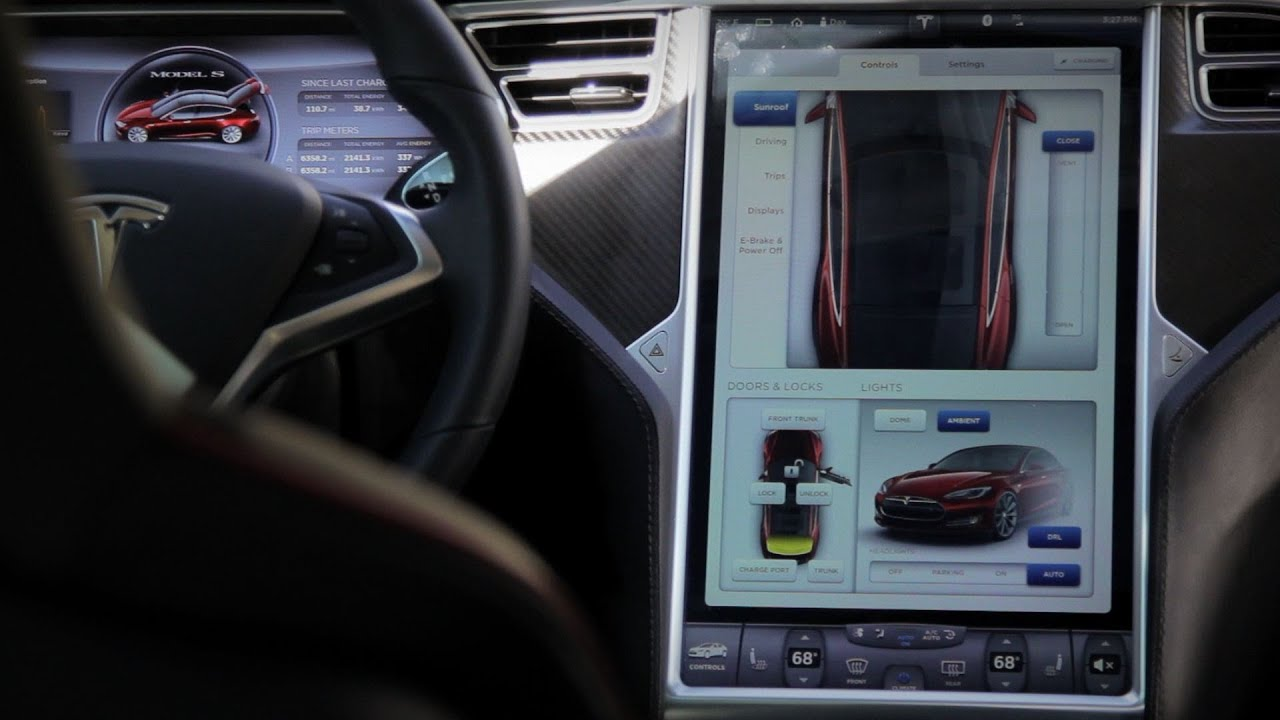Tesla Model S Touch Screen Interface Exotic Driver