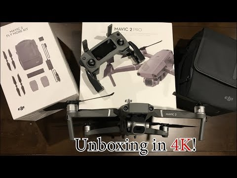4c8e5d97dd0 In Depth DJI Mavic Pro 2 Fly More Combo Kit Unboxing and Comparison to Mavic  Pro 1 in 4K!