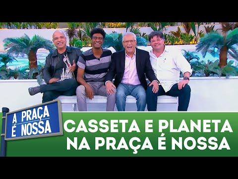 Casseta e Planeta sentam no famoso banco da Praça | A Praça é Nossa (03/05/18)