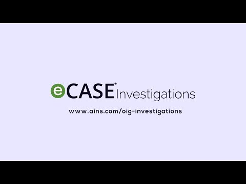 eCase Investigations | OIG Investigations Software