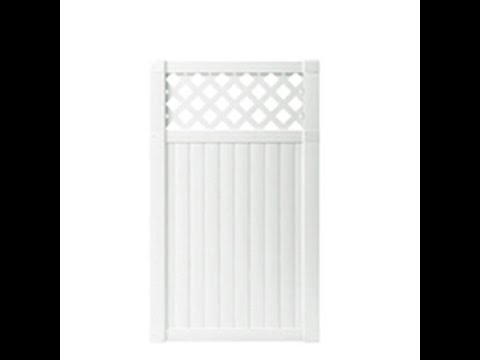HOW TO ASSEMBLE VINYL PRIVACY WITH LATTICE GATE WITH STEEL FRAME ...