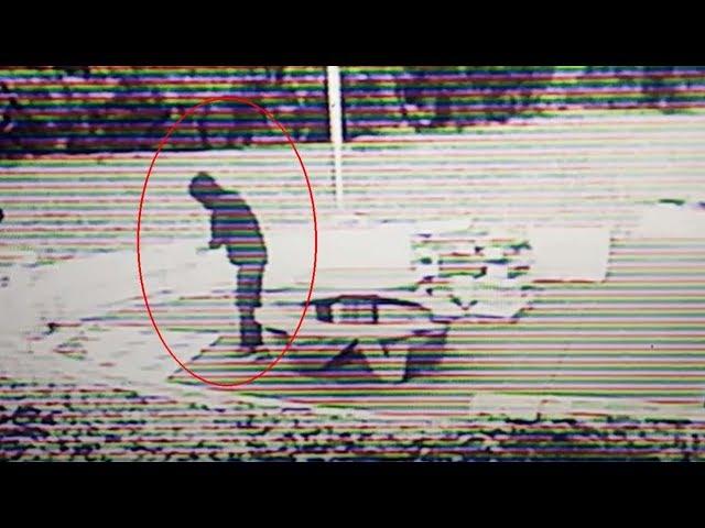 Cámara de seguridad muestra a un viajero del tiempo teletransportándose a plena luz del día