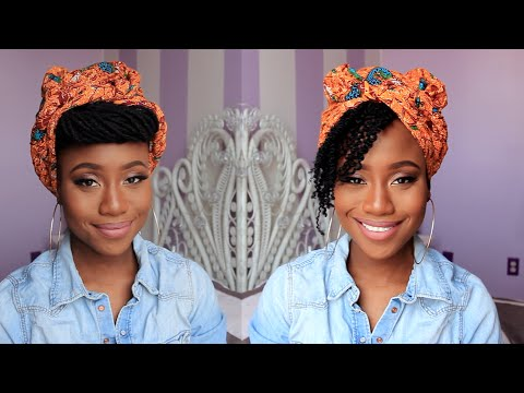 head wrap styles for short hair headwrap style for locs hair 7073 | hqdefault