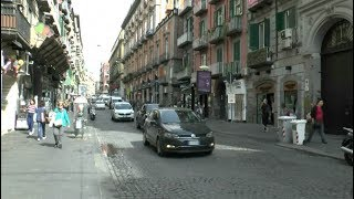 Walk around Naples Italy Castel dell