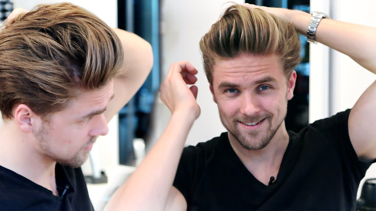 Men S Medium Hair Lenght With High Volume Blow Out Giveaway Men S Hairstyling Inspiration 2015 Youtube