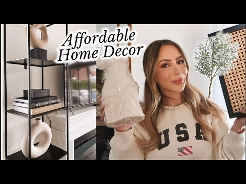 The best AFFORDABLE home decor! H&M HOME DECOR HAUL + NEW SKINCARE