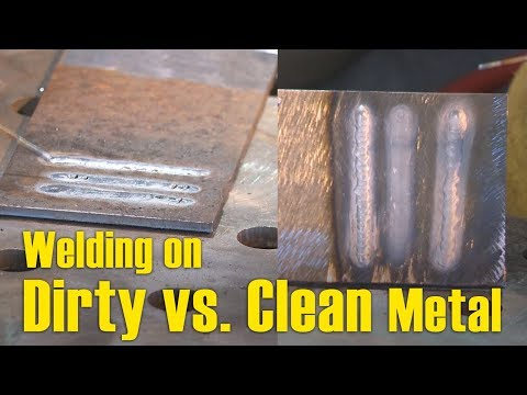 🔥 Welding over Dirty vs. Clean Material (How to Properly Clean your Metal Pt 2)