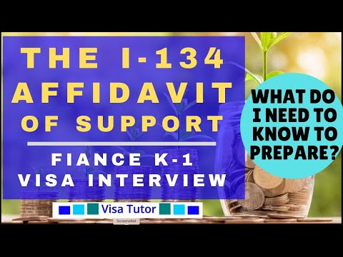 K-1 Fiance(e) Visa – Affidavit of Support (form I-134) « Visa Tutor