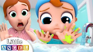 Wash Your Hands | Healthy Habits Song | Little Angel Nursery Rhymes and Kids Song