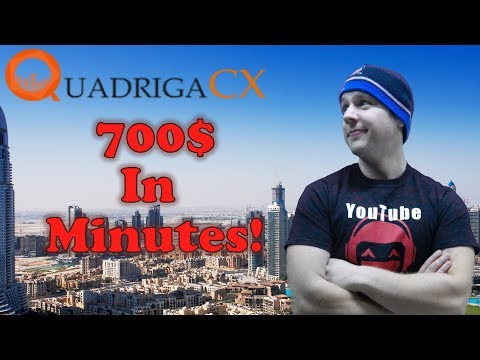 QuadrigaCX - Trading Bitcoin Cash - $700 In Minutes! | Live Trading