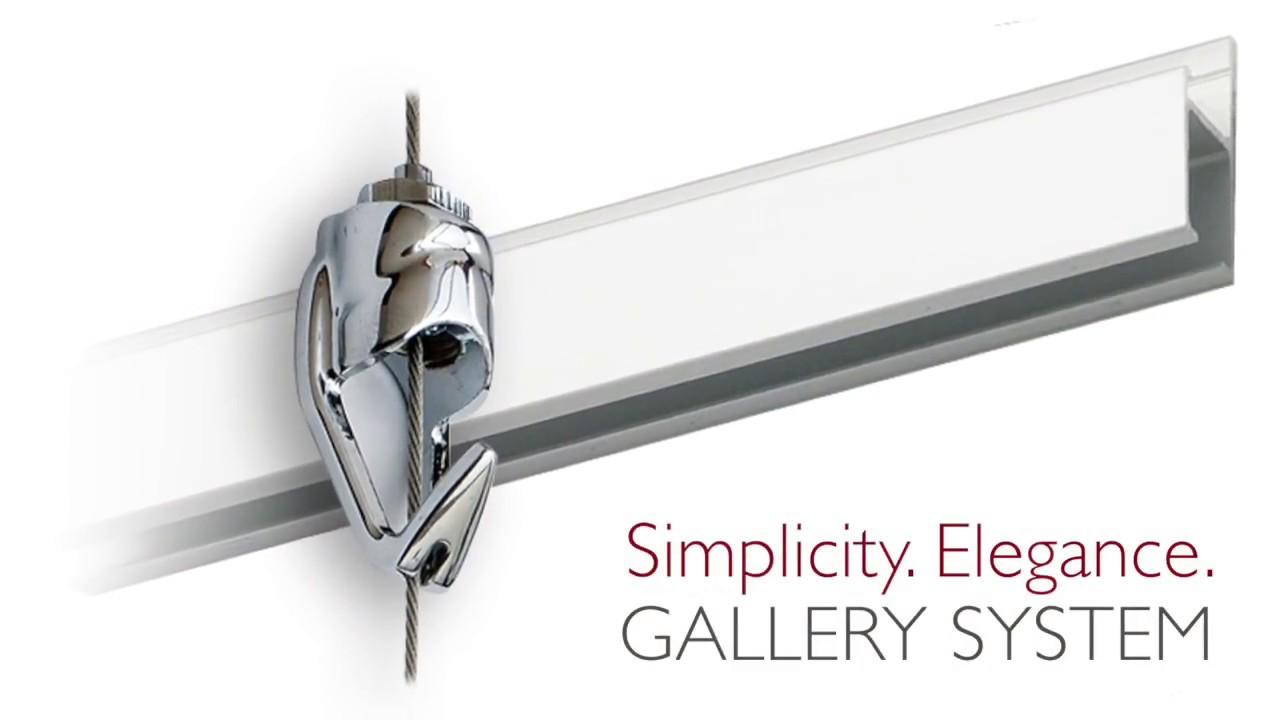 hang art the elegantly simple way gallery system art hanging