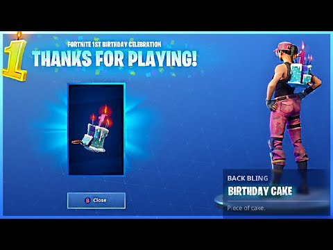 I GOT BIRTHDAY CAKE BACK BLING And ALL BIRTHDAY CAKE LOCATIONS In Fortnite Battle Royale!