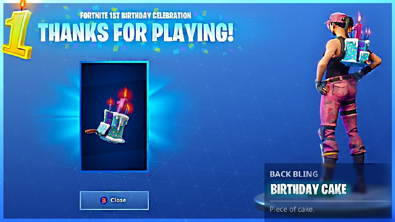I Got Birthday Cake Back Bling And All Birthday Cake Locations In