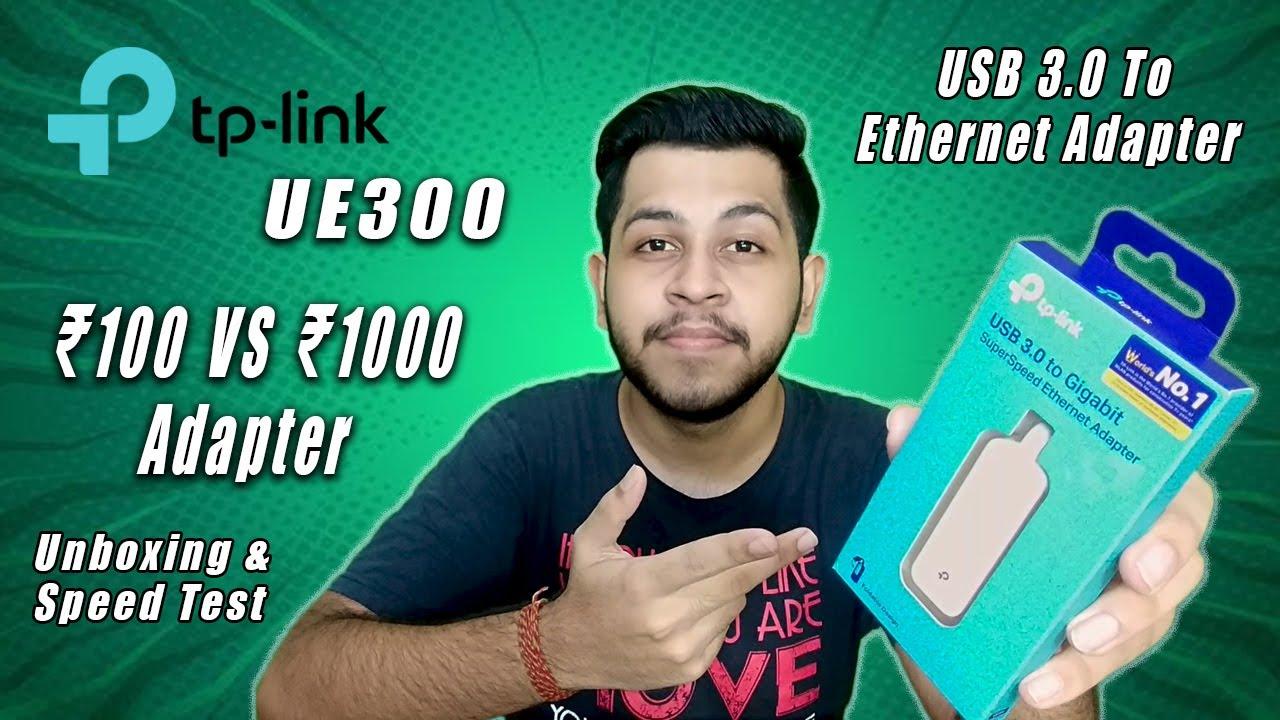 TP Link USB 3.0 To Ethernet Adapter | tp-link UE300 | Unboxing & Speed Test
