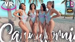 4 BIKINI GIRLS IN VR 3D - CANNAFORNIA - VIRTUAL REALITY BEACH VIDEO 180/360