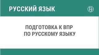 Подготовка к ВПР по русскому языку