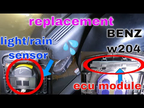 how to replace rain light sensor + ecu module mercedes benz w204