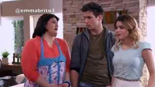 Violetta 3 - Naty le muestra el video a Vilu de la conversación de León con Andrés (03x42)