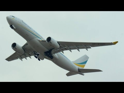 Kazakhstan Government Airbus A-330 taxiing and take off runway 16 at ZRH