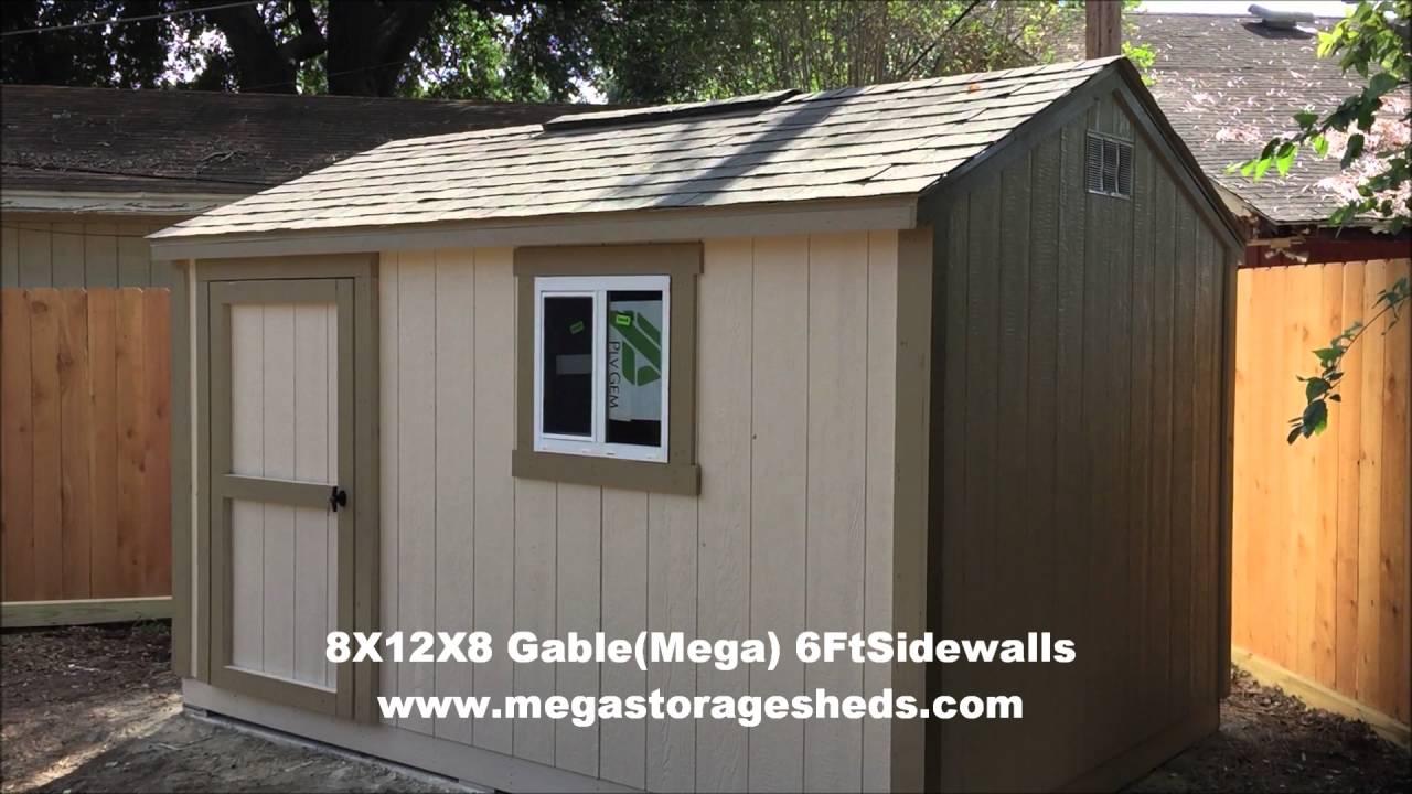Garden Sheds Houston sheds on concrete slab houston, tx (8x12x8) - youtube