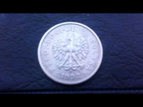 """Coins : Polish 1 złoty 1992 Coin aka """"Zloti"""",""""Zloty"""",or""""Zlotys"""""""