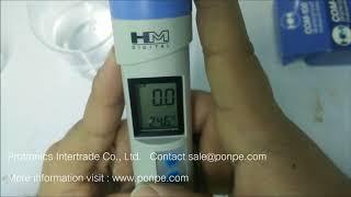 การใช้งาน EC/TDS/Temp Combo Meter รุ่น COM-100 HM DIGITAL