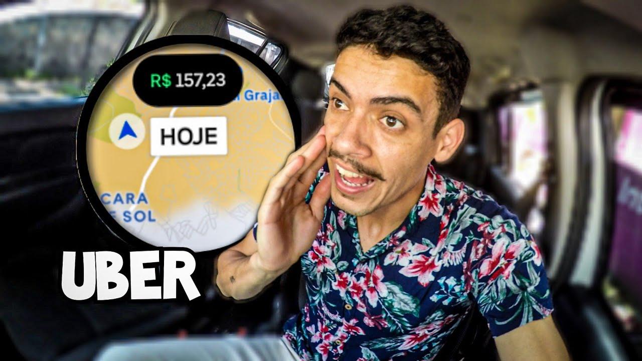 """""""UBER"""" FINAL DE MÊS TOCOU BEM! 🙏🤔*FIZ 10HORAS ONLINE*"""