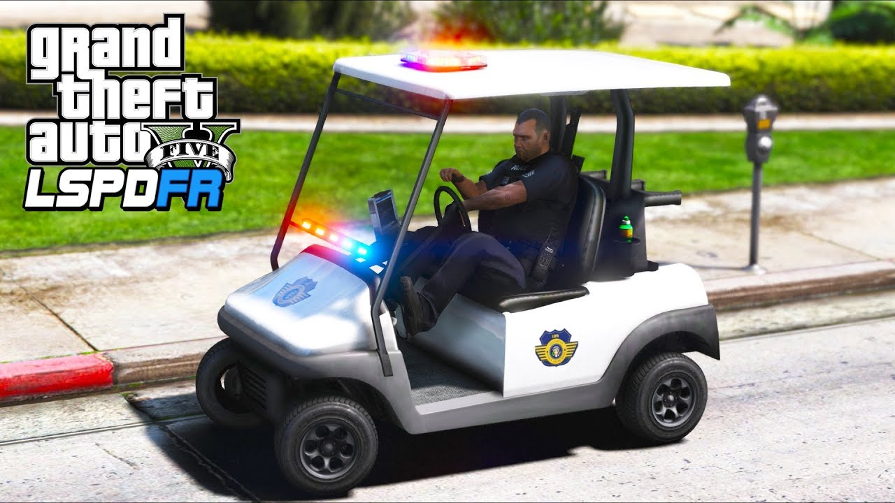 V8 Twin-Turbo Police Golf Cart!! (GTA 5 Mods - LSPDFR Gameplay ...