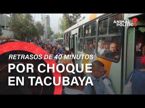 Choque De Trenes En Tacubaya Provoca Retrasos De 40 Minutos A Usuarios