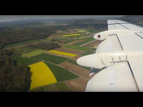 Helvetic Airways Fokker 100 HB-JVH LX 1019 Dusseldorf-Zurich FULL Flight Trip Report - ENGINE SOUND!