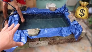 BUILDING ABOVE GROUND MINI POND on a BUDGET!