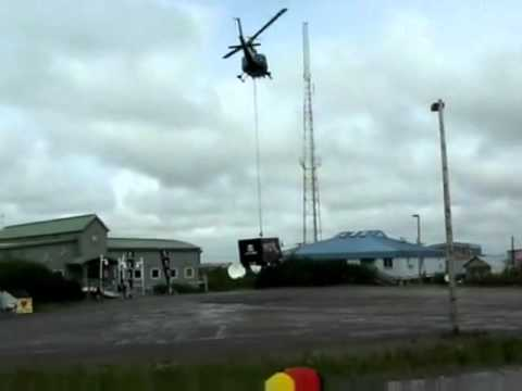 Taco Bell Truck Delivered by Helicopter to Alaska Small Town