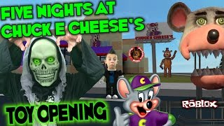 Five Nights at Freddy's TOYS REVIEW Opening at Chuck E Cheese Roblox FNAF CEC FUN