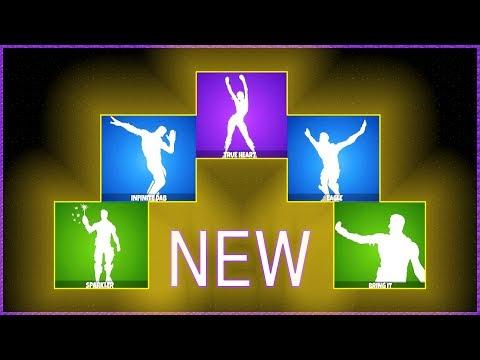 *NEW LEAKED* Dance Emotes  - ( Eagle, Infinite Dab, True Heart, Sparkler, Bring it )