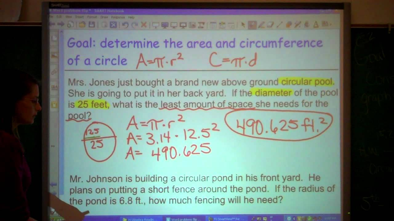 how to find the area and circumference of a semicircle