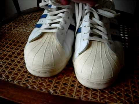 Adidas Superstar Made in France Vintage Rare Blue gebrauchte 70er Jahre 80er Jahre