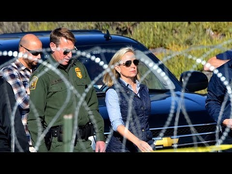Kirstjen Nielsen at Mexico border on migrant caravan