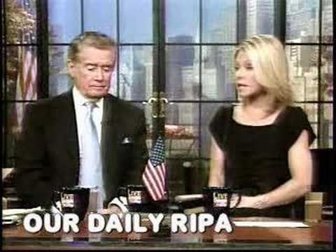 Video of Clay incident, harrassment of Kelly Ripa