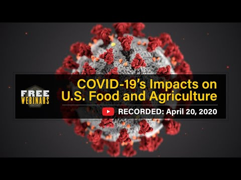 COVID19's Impact on U S Food and Agriculture Webinar April 20, 2020