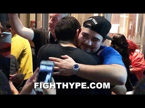 ANDY RUIZ SENDS ANTHONY JOSHUA A CLASSY MESSAGE AS HE CELEBRATES WITH FANS AFTER KNOCKOUT WIN