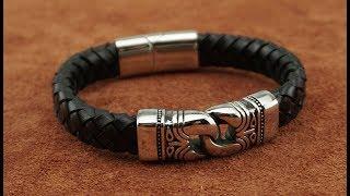 Мужской кожаный браслет Baellerry (TBL31). Быстрый обзор.