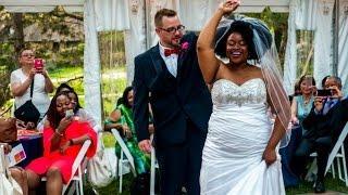 Our wedding: interracial couple
