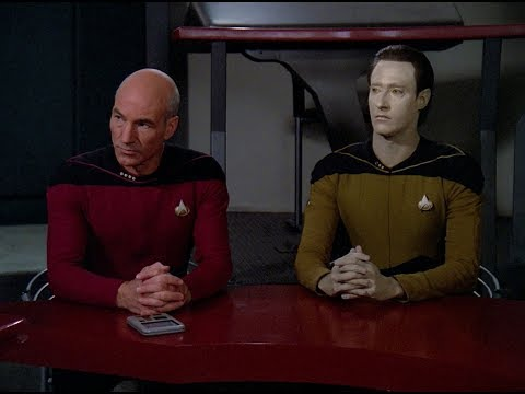Captain Picard Explains Terrorism To Data From The Evolved H