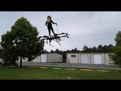 Mariah Cain Training on the MegaDrone