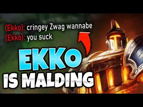 BEAT EKKO SO BAD HE CALLED ME A ZWAG WANNABE! HE LOST HIS MIND!! - League Of Legends