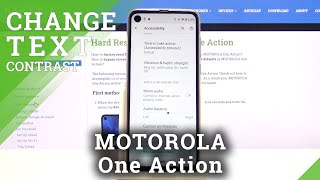 MOTOROLA One Action High Contrast Text Option