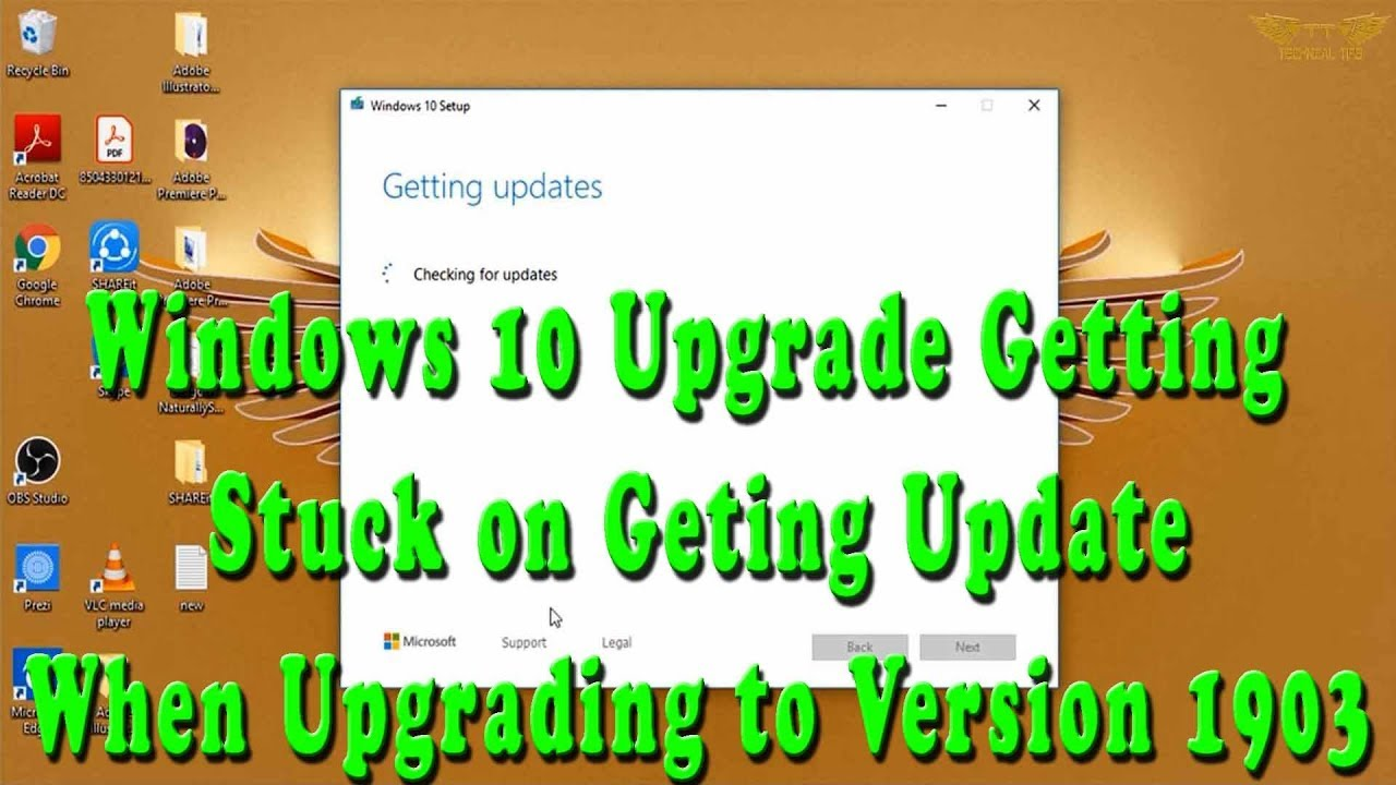 Windows Upgrade to Version 1903 Getting Stuck on Getting Updates