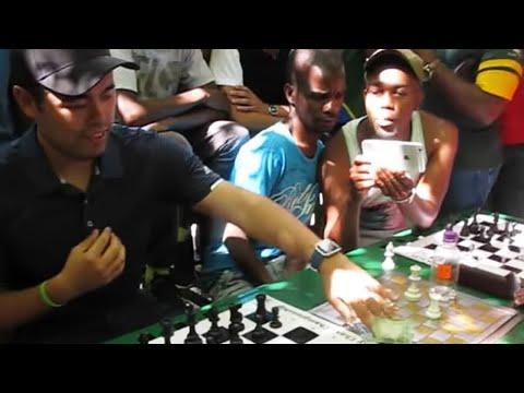 Hikaru Nakamura Vs South African Chess Hustler: Amazing Endgame Speed