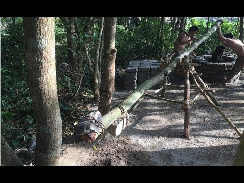 Primitive technology with survival skills wilderness crane roman